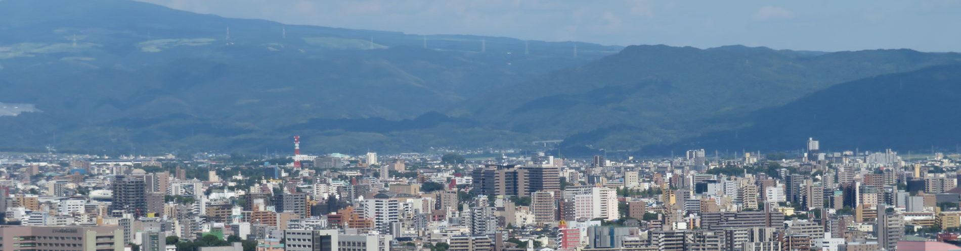 熊本市の風景 花岡山より東方向